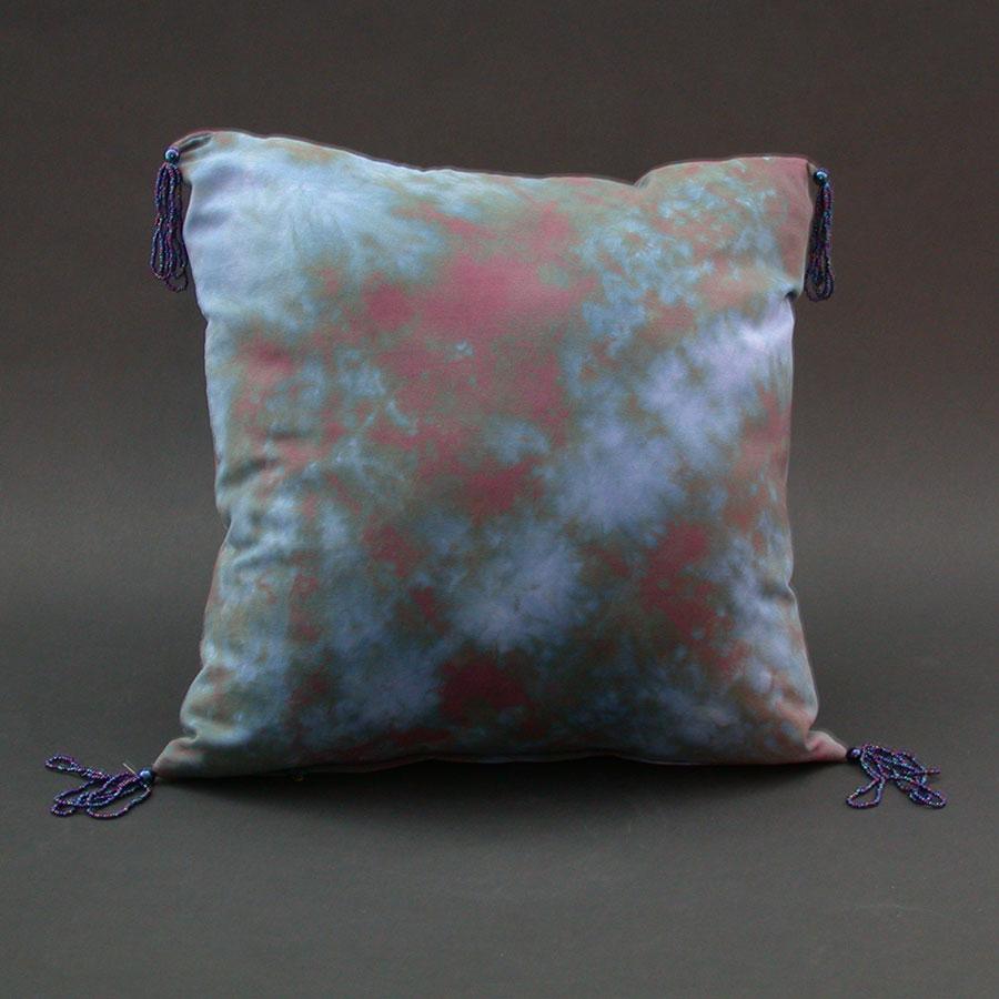 Karen burton hand painted silk pillow for Hand painted pillows